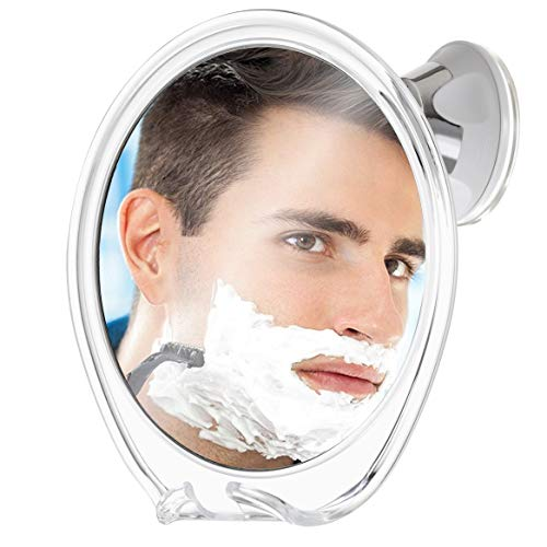 Fogless Shower Mirror for Shaving with Razor Hook | Strong Suction Cup - Mirrors Falling Bathroom