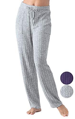 (Addison Meadow Lounge Pants Women - Womens Lounge Pants, Knit, Gray, L, 12-14)