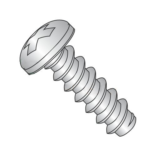 "#4 x 3/8"" Type B Self-Tapping Screws/Phillips/Pan Head / 18-8 Stainless Steel (Carton: 5,000 pcs) 41gENlt2BHJL"
