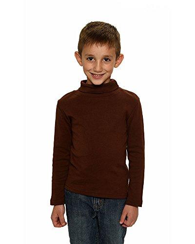 Monag Toddler Long Sleeve Turtle Neck T-Shirt Chocolate 2y (Sleeve Long Turtleneck Ringspun)