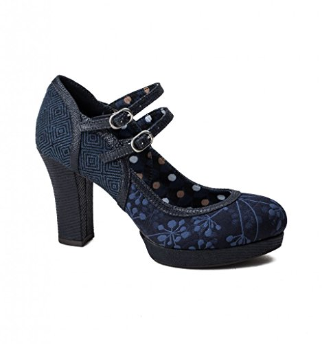 Shoo Laura Navy Ruby Chunky Mary Bar Jane Women's Shoes aqAAfwC