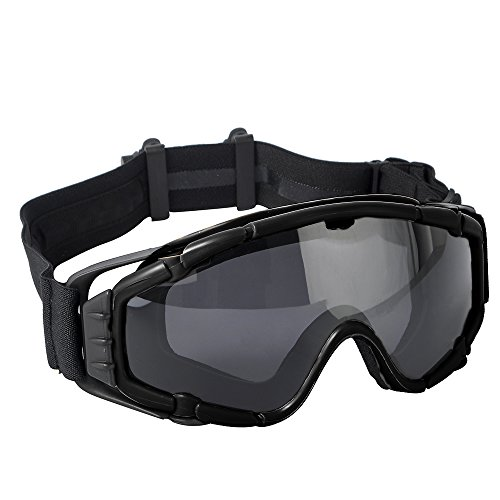 FMA Tactical Anti-Fog SI-Ballistic Regulator Goggles with Fan Airsoft...