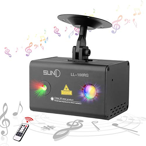 SUNY Mini Party Laser Lights Sound Music Activated
