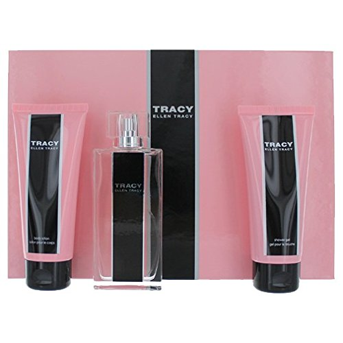 Ellen Tracy Gel Perfume (Tracy by Ellen Tracy for Women 3 Piece Set Includes: 2.5 oz Eau de Parfum Spray + 3.4 oz Body Lotion + 3.4 oz Shower Gel)