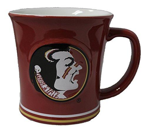 The Memory Company NCAA Florida State Seminoles 15 oz Sculpted Ceramic Coffee (Ncaa Coffee Mugs)
