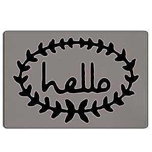 doormat-only Calico Hello Felpudo gris/negro