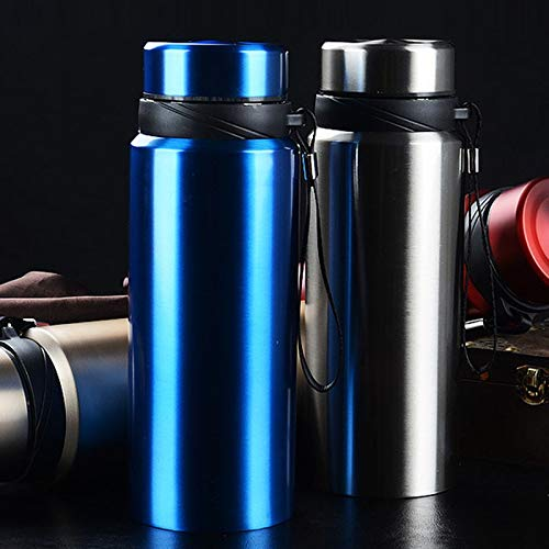 WHXYAA Insulated 304 Stainless Steel Vacuum Flask 750ML Sports Bottle Portable Outdoor Vacuum Insulation Cup (Color : Red, Size : 1000ML)