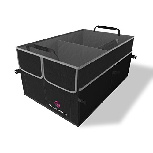 GALLIVANTEUR Car Trunk Organizer   Foldable Trunk Organizer for SUV   Free Up Your Trunk Space