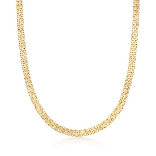 (Ross-Simons Italian 18kt Yellow Gold Bismark Chain Necklace)