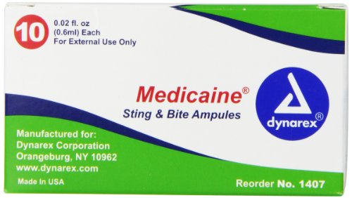 Dynarex Medicaine Insect Bite & Sting Swab, .02 oz, 10 Count
