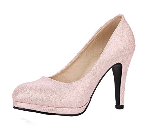 Rosa Trafilatura Donna AgooLar Alto Flats Puro Tacco Ballet Tirare GMMDB006939 H7xq6zgnA