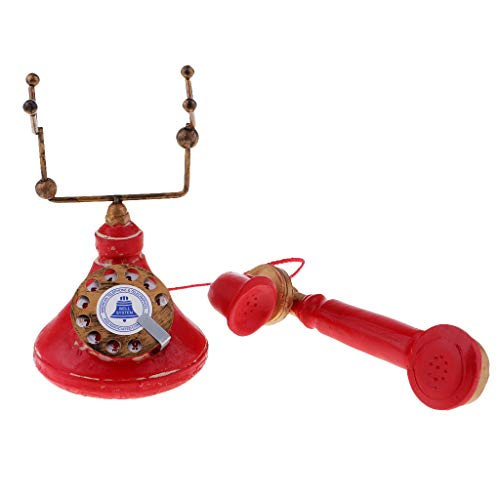Baosity Vintage Antique Rotary Telephone Corded Retro Phone Home Ornaments