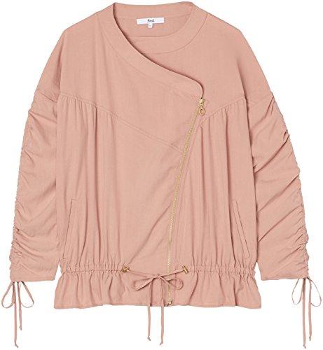 Arricciata Rosa Manica E Giacca pink Con Volant Find Donna xSwa0q