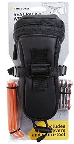 Timbuk2 Designs Seat Pack XT with Tools, Medium, Black/Gunmetal (Pack Bicycle Timbuk2 Seat)