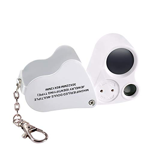 Led Folding Lighted 60X Pocket Loupe in US - 4