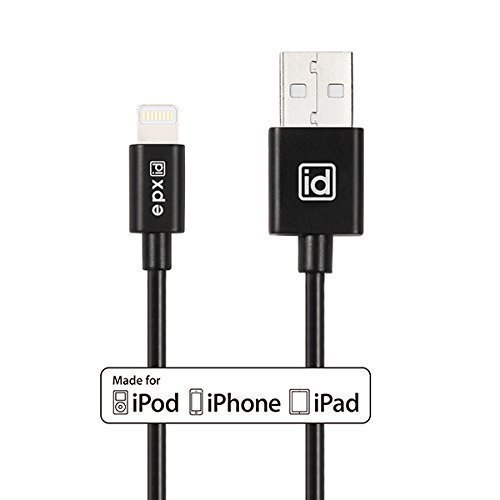 [Apple MFi Certified] epxidLightning to USB Cable 3.3ft / 1m with Ultra-Compact Connector Head for Apple iPhone 6s, 6 Plus 5s 5c 5, iPad Pro Air 2, iPad mini 4 3 2, iPod touch 5 6/ nano 7(Black)