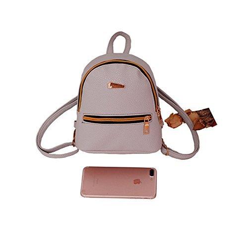 ModaKeusu Casual Fashion School Leather Backpack Shoulder Bag