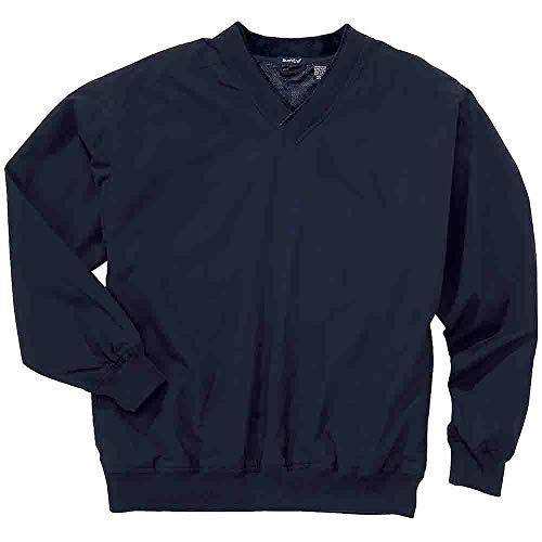 (Rivers' End Mens Lined Microfiber Windshirt Athletic Jacket Navy L)