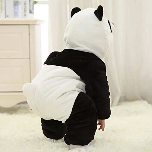 84f95b770 Infant Baby Boys Girls Winter Flannel Panda Bunting Outfits Snowsuit ...
