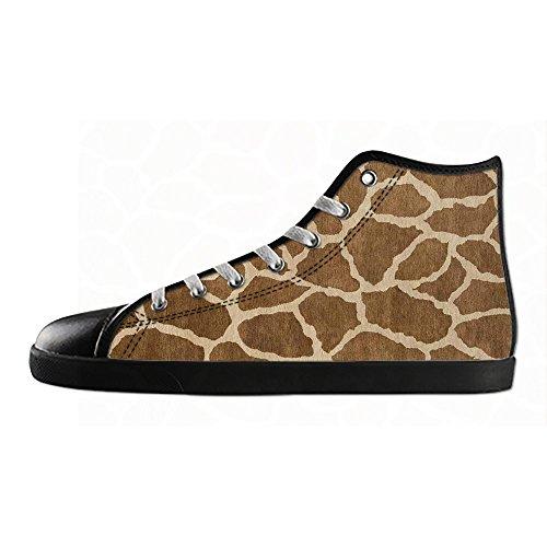 Shoes Da Ginnastica Canvas Tela Sopra Zebra Lacci I Stampa Men's Le Di In Scarpe Alto Delle Custom HZ1w6xXq