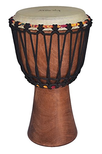 Tycoon Percussion TAJ-8 8 African Djembe with Goat Skin Head Natural Finish (Djembe Natural)
