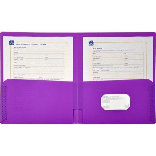 Lion 91100LP-BX Pocket Folder - Letter - 8.50 x 11 - 48 / Box - Purple by Lion