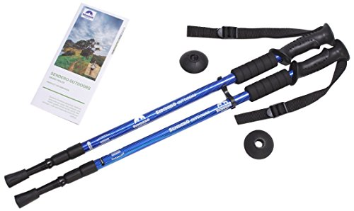 Sendero Outdoors Collapsible Hiking Poles, for Men and Women, 1 Pair (Walking Hiking Trekking Stick)