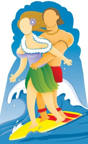 Surfer Couple Stand-in - Stand In Lifesize Cardboard Cutout/Standee / -