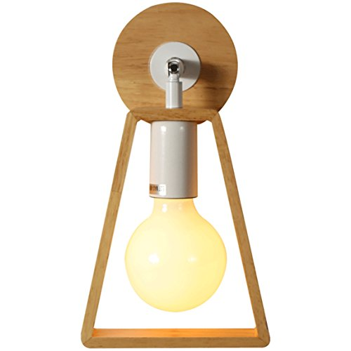 505 HZB Solid Wood, Nordic Wall Lamp, Bedroom Bedside Lamp, Simple Creative Corridor Aisle Lamps ()