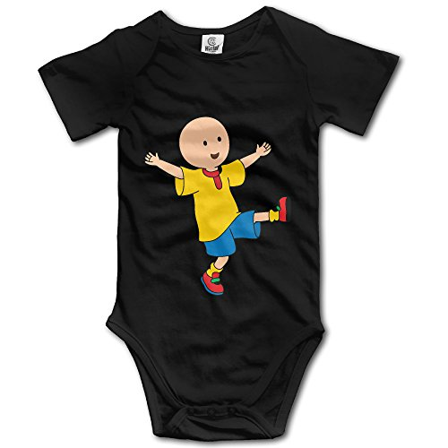 [Caillou Unisex Short Sleeve Pack Lightweight Bodysuits For Baby Boys/Girls] (Elvira Outfit)