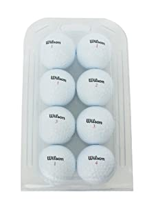 Second Chance Golf Lakebälle Wilson 8 Pack Premium Grade A, weiß, VAL-8-CL-WIL