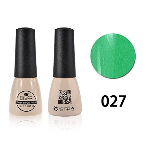 Qimisi Gelpolish Soak-Off UV LED Gel Polish Nail Art New Bling Colours Manicure Lacquer 7ml Spring Green
