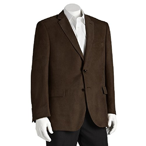 Big and Tall Soft Touch Microfiber Blazer (60 Regular, Chocolate) - Soft Touch Microfiber Jacket
