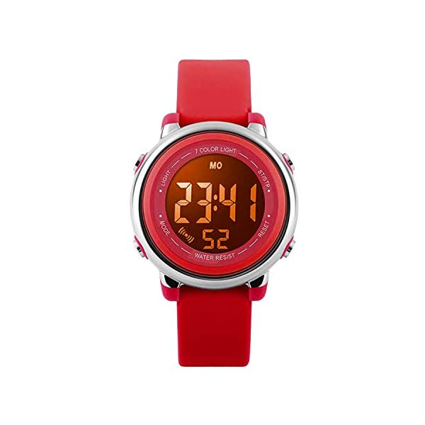 Kids Digital Sport Waterproof Watch for Girls Boys, Kid Sports Outdoor LED Electrical Watches with Luminous Alarm Stopwatch Child Wristwatch