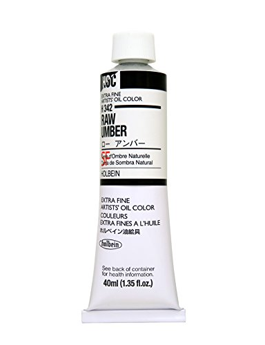 Holbein Artists Oil 40ml Raw Umber - New Butter Brad