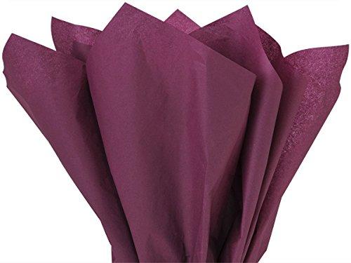 Plum Tissue Paper - Burgundy Tissue Paper 15 Inch X 20 Inch - 100 Sheet Pack