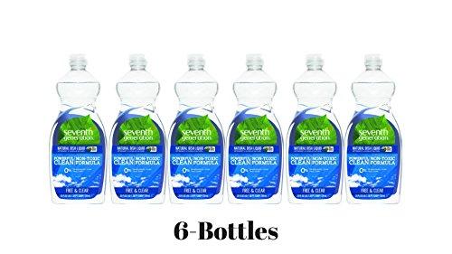 (Seventh Generation Natural Free & Clear Dishwasher Liquid 6-Bottles of 25 fl. oz)