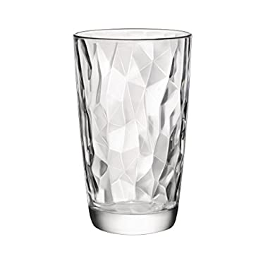 Bormioli Rocco 4 Piece Diamond Cooler Glasses, Clear