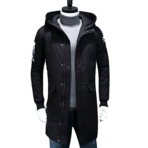 YANXH Winter The New Men Down jacket Leisure Youth Long Section coat , black , m by YANXH outdoors