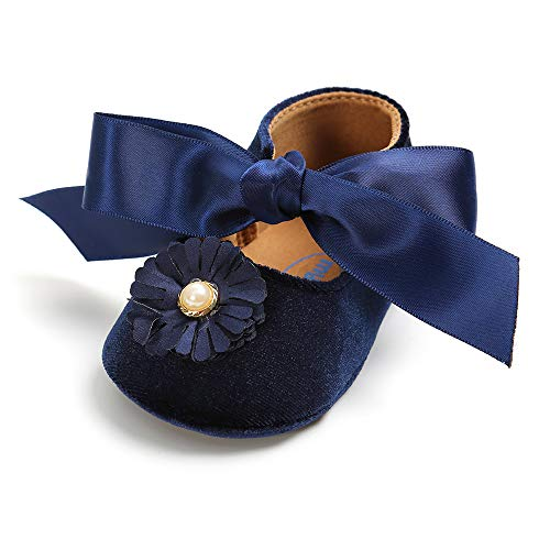 Baby Sneakers - Infant Boys Girls Non-Slip Soft Soled Toddler First Walkers Angel Wing Crib Shoes (S: 4.25 inch(3-6 Months), Ac- Blue)