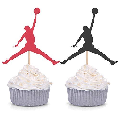 24 Counts Jumpman Cupcake Toppers Basketball Theme Birthday