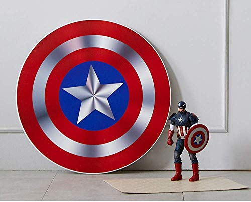 Captain America Shield Folding Low Table Metal Foldable Legs