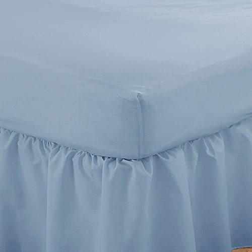 HLS Bedding Charlotte Thomas Poésie Uni Parure de lit Drap-Housse, Bleu – 30,5 cm de Profondeur – Double Drap-Housse
