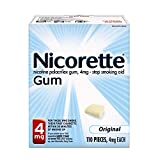 Nicorette Stop Smoking Aid 4 mg Original Gum - 110 ct, Pack of 3