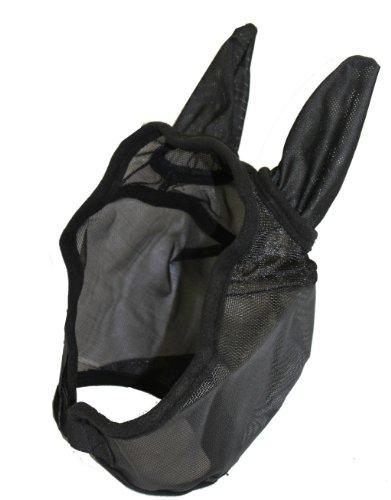 - AJ Tack Wholesale Deluxe Horse Fly Mask with Ears Open Forelock Heavy Duty Nylon Mesh Black, Xlarge