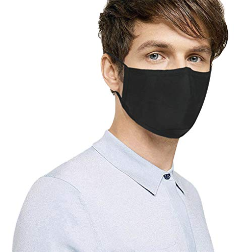 3PCS Unisex Anti-fog Dustproof Activated Carbon Filtering Face Mouth Mask Earloop Filter Guaze Mask Cotton Mouth-muffs
