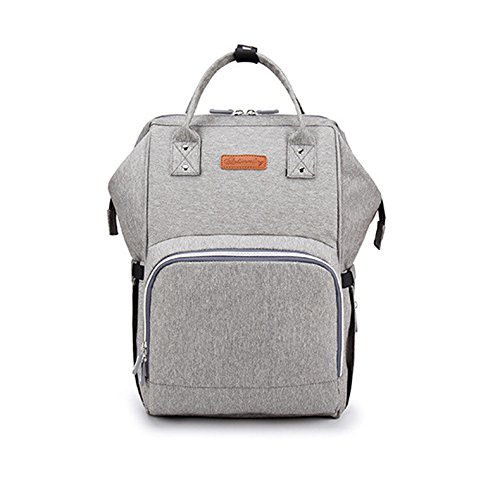 Price comparison product image Diaper Bag Backpack with USB Charging Port,  Multi-Function Large Capacity Waterproof Backpack for Travel with Baby,  Stylish Durable Nappy Backpack with Stroller Straps (Grey)