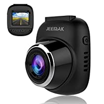 JEEMAK Mini Dash Cam 1080P Car Dashboard Camera Wide Angle Driving Recorder 12MP Loop Recording, Motion Detection, WDR and G-Sensor