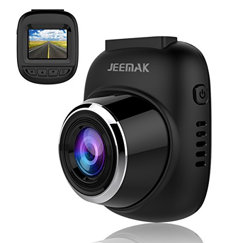 JEEMAK Dash Cam 1080P Mini Car Camera 120° Wide Angle Lens Dashboard Camera Driving Video Recorder WDR, Loop Recording, Motion Detection and G-Sensor For Sale