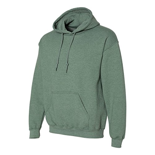 - Gildan. Heavy Blend Adult Unisex Hooded Sweatshirt/Hoodie (2XL, Heather Sport Dark Green)